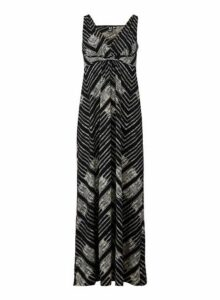 Womens *Izabel London Aztec Print Maxi Dress- Black, Black