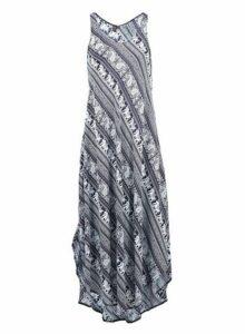 Womens *Izabel London Blue Elephant Print Maxi Dress, Blue