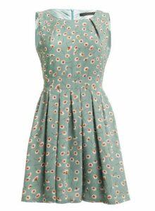 Womens *Tenki Mint Floral Print Skater Dress- Mint, Mint