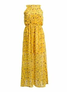 Womens *Tenki Yellow Floral Print Maxi Dress, Yellow