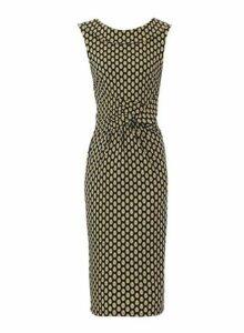 Womens *Jolie Moi Yellow Fold Collar Dress, Yellow