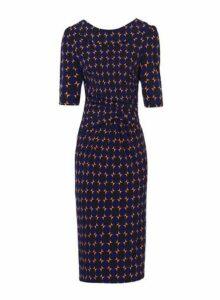 Womens *Jolie Moi Multi Colour Royal Bodycon Dress, Multi Colour