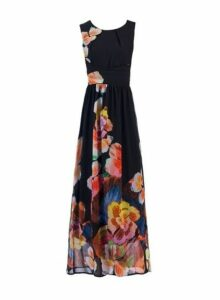 Womens *Jolie Moi Black Print Maxi Dress- Black, Black