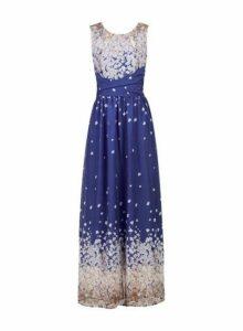 Womens *Jolie Moi Blue Floral Print Maxi Dress, Blue