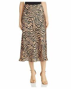 Bardot Zebra Print Slip Skirt