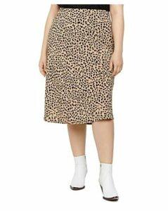 Sanctuary Curve Cheetah-Print Midi Slip Skirt