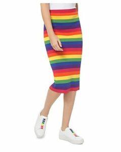 Michael Michael Kors Rainbow Stretch Pencil Skirt