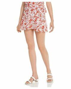 Aqua Floral Mini Wrap Skirt - 100% Exclusive