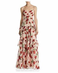 Bcbgmaxazria Tiered Floral Gown
