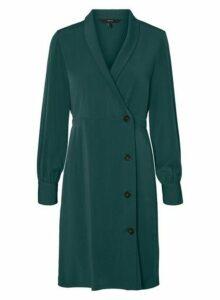 Womens **Vero Moda Green Long Sleeve Dress- Green, Green