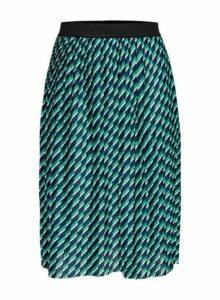 Womens **Only Navy Pleated Midi Skirt- Navy, Navy