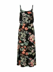 Womens **Only Multi Colour Tropical Print Maxi Dress- Multi Colour, Multi Colour