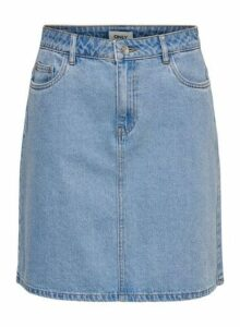 Womens **Only Light Blue Denim Skirt- Blue, Blue