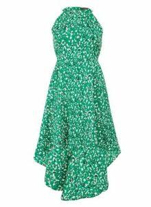 Womens *Tenki Green High Low Skater Dress- Green, Green