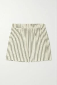 Miguelina - Gale Linen Midi Skirt - Pastel yellow