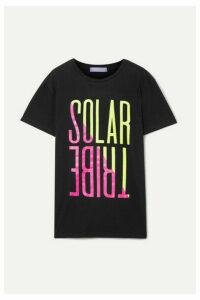 Paradised - Solar Tribe Printed Cotton-jersey T-shirt - Black