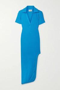 De La Vali - Juliette Ruffled Polka-dot Chiffon Maxi Dress - Black