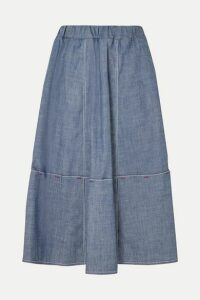 Marni - Cotton-blend Chambray Skirt - Gray