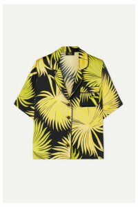 De La Vali - Kid Printed Satin Shirt - Green