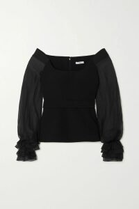 Marni - Printed Crepe Midi Skirt - Black