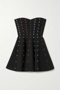 Isabel Marant - Andora Tiered Embellished Printed Cotton-gauze Mini Skirt - White