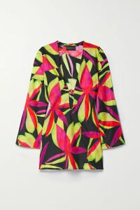 Oscar de la Renta - Jacquard-trimmed Merino Wool And Silk-blend Sweater - Black