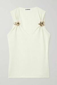 Diane von Furstenberg - Alexa Tiger-print Cotton And Silk-blend Voile Wrap Mini Dress - Claret