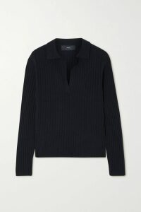 Bottega Veneta - Paneled Ribbed Silk Sweater - Orange