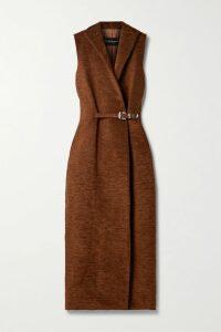 Borgo de Nor - Corin Belted Floral-print Cotton-poplin Dress - Red