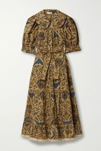 Marchesa Notte - Lace-trimmed Embroidered Point D'esprit Tulle Gown - Blush