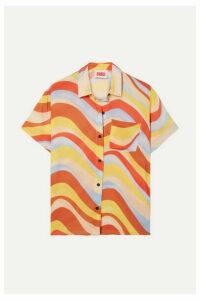 Solid & Striped - Cabana Printed Voile Shirt - Orange