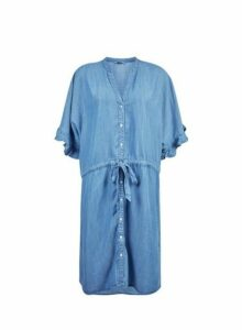 Womens **Only Blue Kimono Denim Dress- Blue, Blue