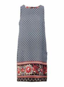 Womens *Izabel London Navy Floral Print Shift Dress, Navy