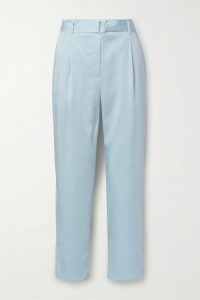 SAINT LAURENT - Polka-dot Silk-georgette Mini Skirt - Black