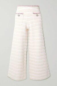 SAINT LAURENT - Metallic Printed Silk-blend Chiffon Mini Dress - Black