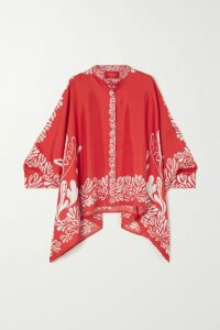 alice McCALL - At Last Cutout Striped Cotton-poplin Midi Dress - Pink