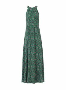 Womens *Jolie Moi Green Geometric Print Halter Neck Maxi Dress- Green, Green