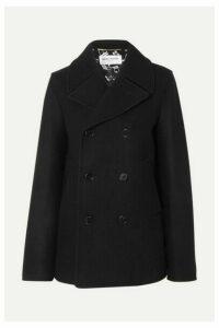 SAINT LAURENT - Double-breasted Wool Coat - Black