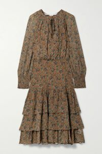 Zimmermann - Amari Paisley-print Cotton-voile Maxi Dress - Magenta