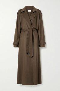 MICHAEL Michael Kors - Ruffled Printed Crepe Mini Skirt - Navy