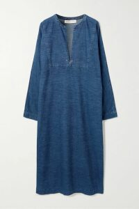 Marchesa Notte - Tiered Satin-trimmed Embroidered Tulle Dress - Blush