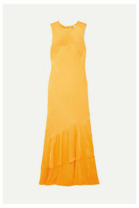 Rebecca Vallance - Isobella Satin-jacquard Maxi Dress - Orange