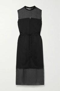 Self-Portrait - Floral Guipure Lace Midi Dress - Black