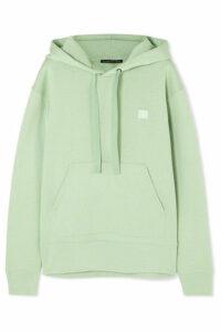 Acne Studios - Ferris Face Appliquéd Cotton-jersey Hoodie - Light green