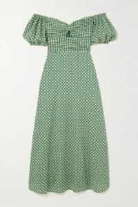 Skin - Brea Gathered Cotton-voile Shirt - Light blue