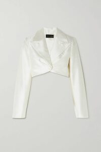 Adriana Degreas - Bacio Printed Voile Halterneck Mini Wrap Dress - Red