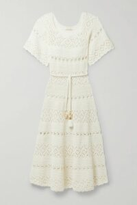 Reformation - Butterfly Off-the-shoulder Tiered Floral-print Crepe Dress - Ecru
