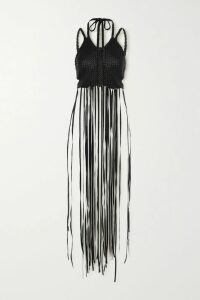 Reformation - Bea Floral-print Crepe Midi Skirt - Black