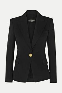 Balmain - Wool-twill Blazer - Black