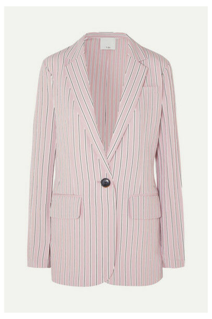 Tibi - Oversized Striped Twill Blazer - Blush